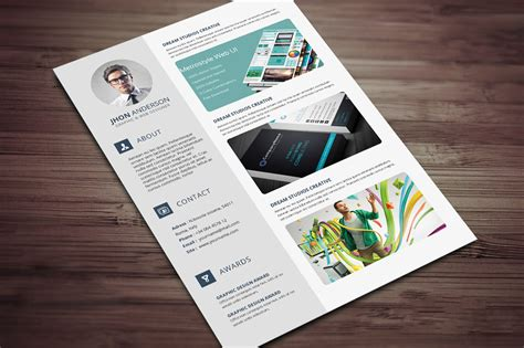 layout portfolio word creative resume cv template with cover letter and