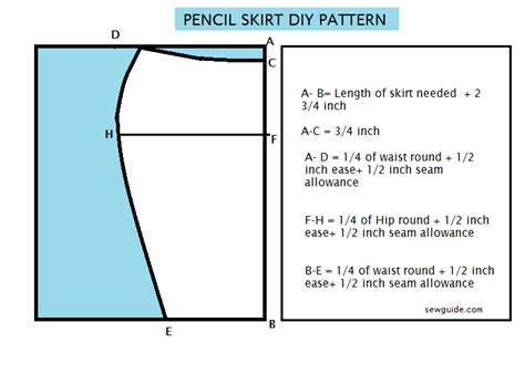 pattern for simple pencil skirt draft an easy pencil skirt diy pattern sew guide