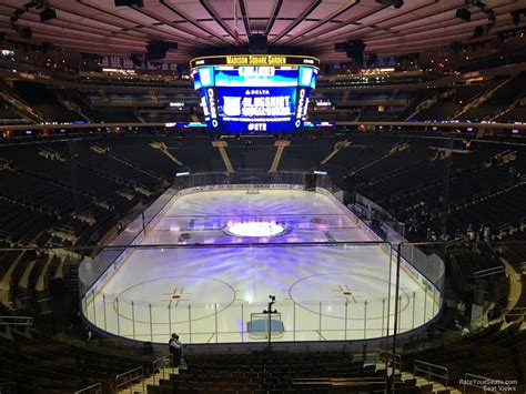 madison square garden sections madison square garden section 204 new york rangers