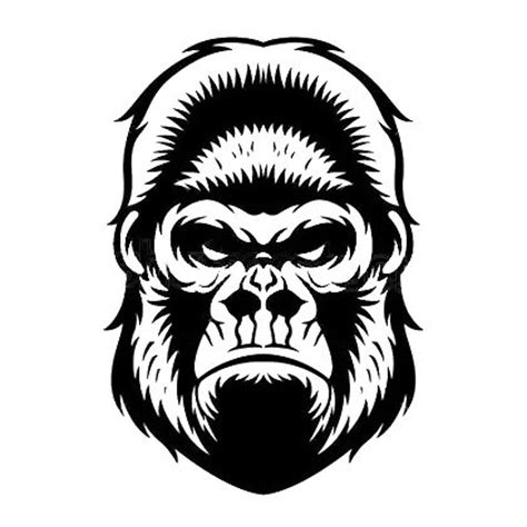 angry gorilla face tattoo