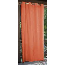 Outdoor Curtains Lowes Designs Shop Allen Roth 108 In L Coral Patio Curtains Outdoor Window Curtain Panel At Lowes