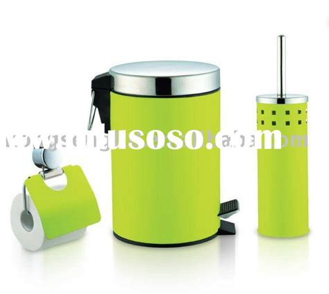 bathroom accessory sets lime green bathroom accessory