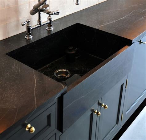 Peninsula Kitchen Design by Black Concrete Countertops Little Green Notebook