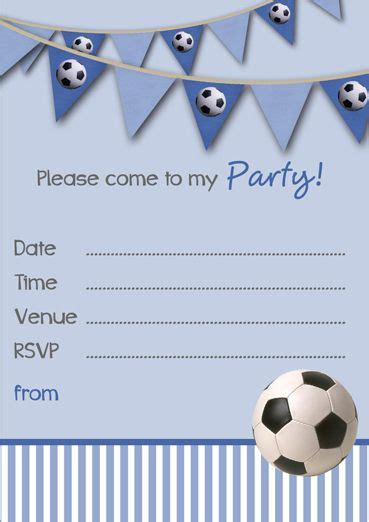 Boy Birthday Invitation Card Template by 127 Best Soccer Images On Futbol Soccer