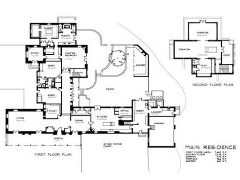 house plan with guest house flooring guest house floor plans main residence guest