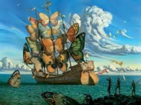 Departure of the winged ship vladimir kush