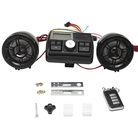 motorcycle waterproof audio sound system fm radio