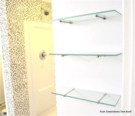 how to hang glass shelves using bingo brackets glass