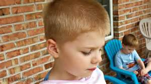 boy haircuts at home at home haircuts for the boys mamma bear s world