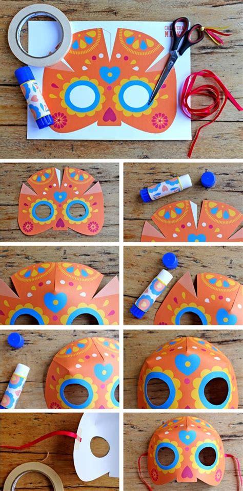 dia de los muertos crafts for dia de los muertos mask craft easy diy calavera mask