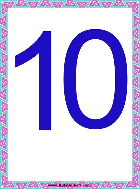 printable numbers 1 10 cards kids under 7 number flash cards numbers 1 10