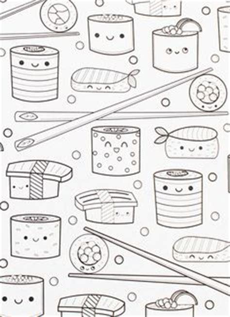 kawaii sushi coloring pages kawaii coloring and free printable on pinterest