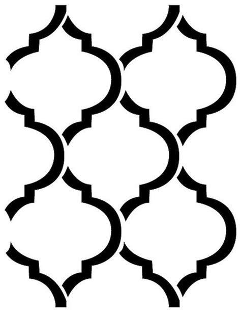printable moroccan shapes 11 best stencil images on pinterest stencil silhouettes