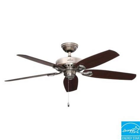 Builder Ceiling Fans by Builder Elite 52 In Brushed Nickel Ceiling Fan