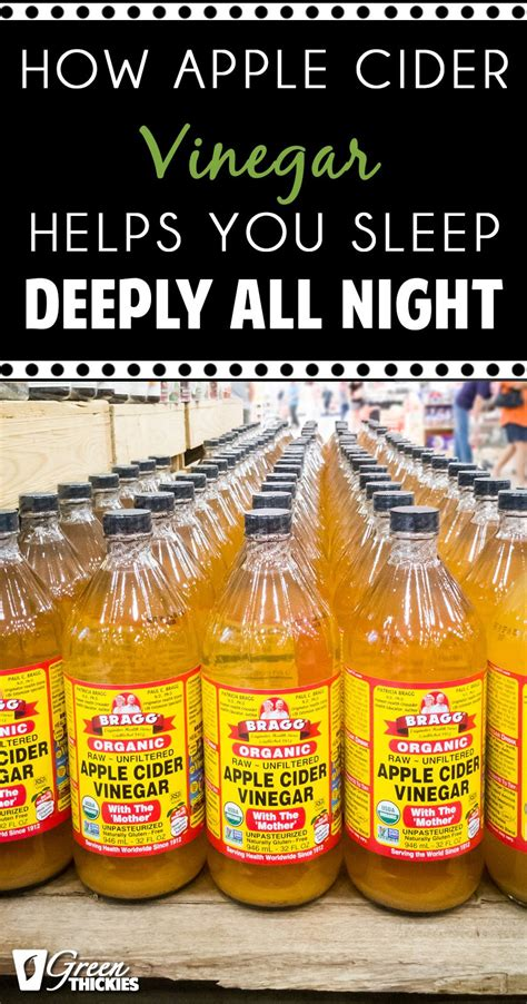 apple cider before bed how drinking apple cider vinegar helps you sleep deeply