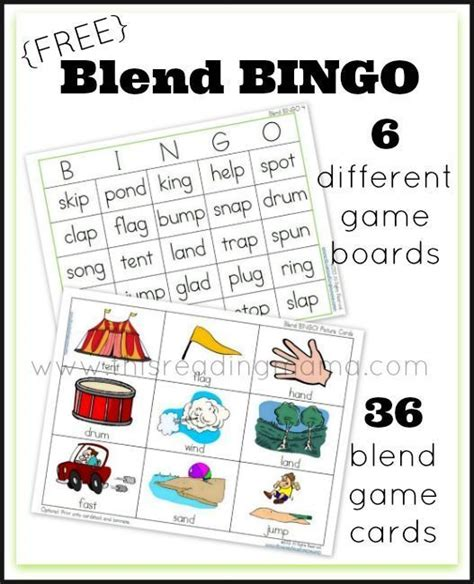 printable spelling bingo games free blend bingo word game picture cards word games and