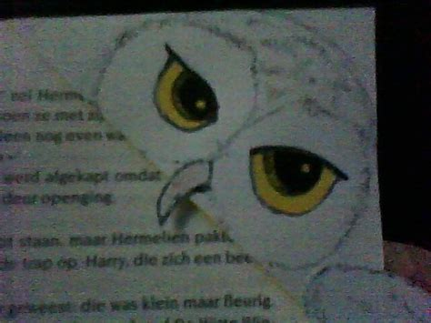 Snowy Owl Hedwig Papercraft By - hedwig bookmark 183 how to make a corner bookmark 183 drawing
