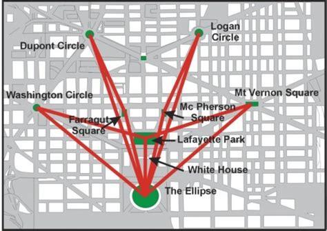 washington dc map secret washington dc s megalithic arrow washington dc s