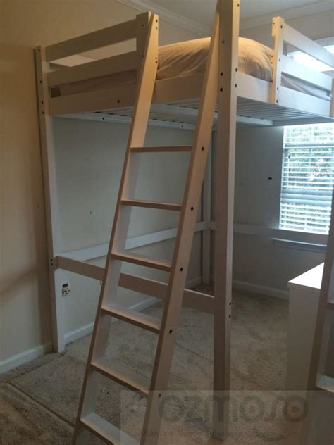 full size wood loft bed ikea stora loft full double size kids white bunk bed pine