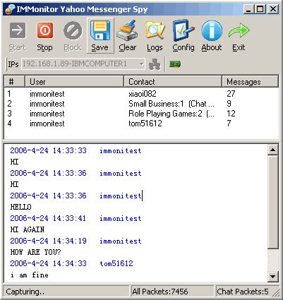 immonitor yahoo messenger spy 2.2.8 free download
