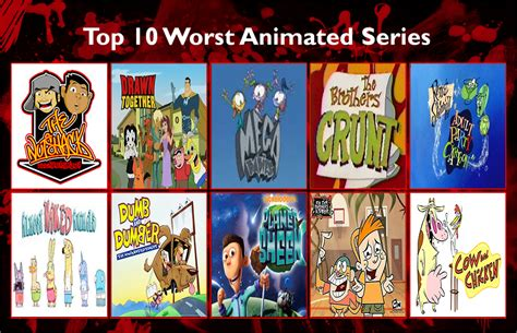 top 100 series top 10 worst animated series by frisco4life on deviantart