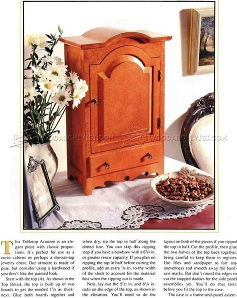table top jewelry armoire table top jewelry armoire plans woodarchivist