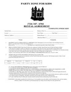 event rental contract template 13 best images of standard equipment rental agreement