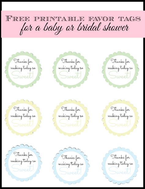 Free Printable Baby Shower Gift Tags by 4 Best Images Of Free Printable Baby Shower Favor Tags
