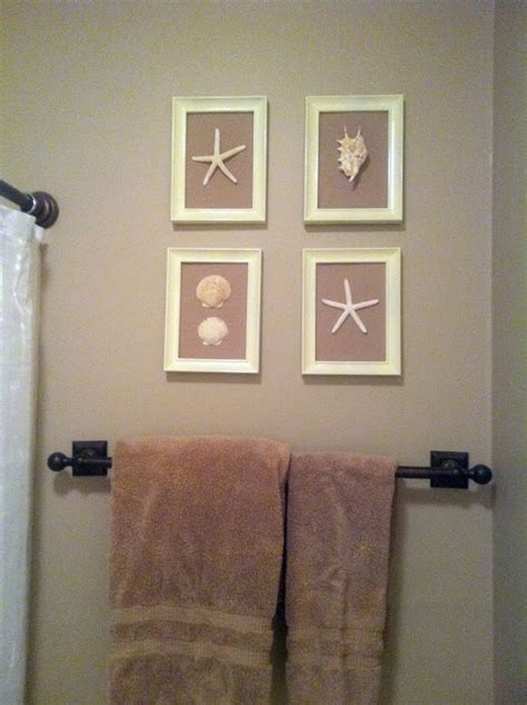seashell wall decor bathroom diy seashell pictures perfect for my spare bathroom