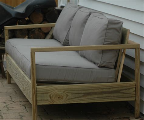 diy patio loveseat ana white 84 patio sofa diy projects
