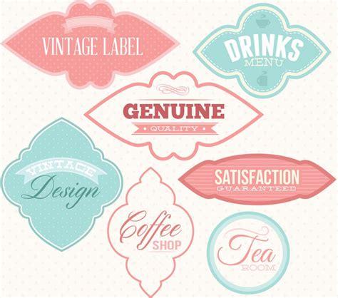 label design eps vintage lables free vector set free download