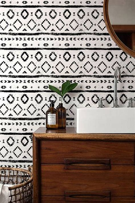 Black And White Wallpaper For Bathrooms by 20 Beautiful Wallpapered Bathrooms
