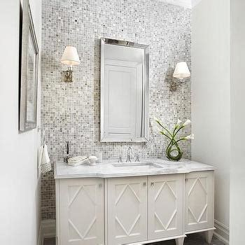 tile accent wall gray mosaic tiled bathroom accent wall contemporary