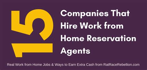 15 companies that hire home based reservation agents