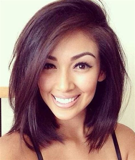 blunt hairstyles mid length best new short hairstyles for long faces popular haircuts