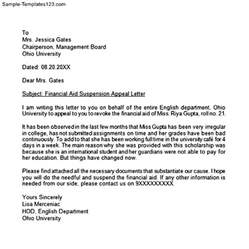 How To Write An Academic Cover Letter by How To Write An Academic Appeal Letter For Financial Aid