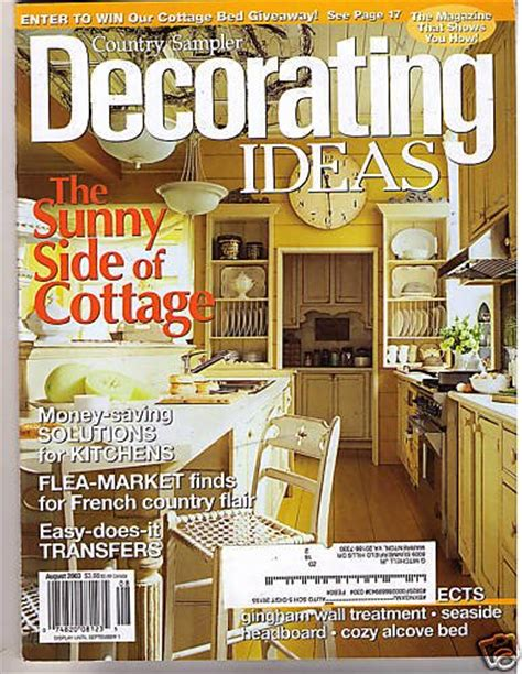 decorator magazine country sler s decorating ideas magazine aug 2003