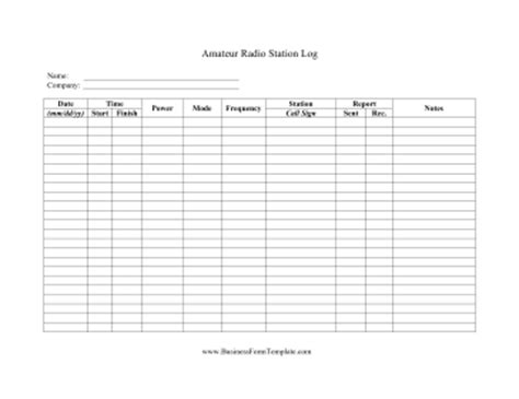 Amateur Radio Logs Best Naked Ladies Radio Station Marketing Plan Template