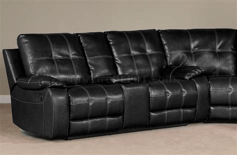 Black Reclining Sofa 2010 Reclining Sectional Sofa In Black Bi Cast