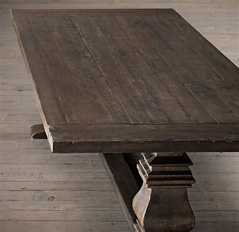 Salvaged Wood Trestle Extension Dining Tables Pinterest