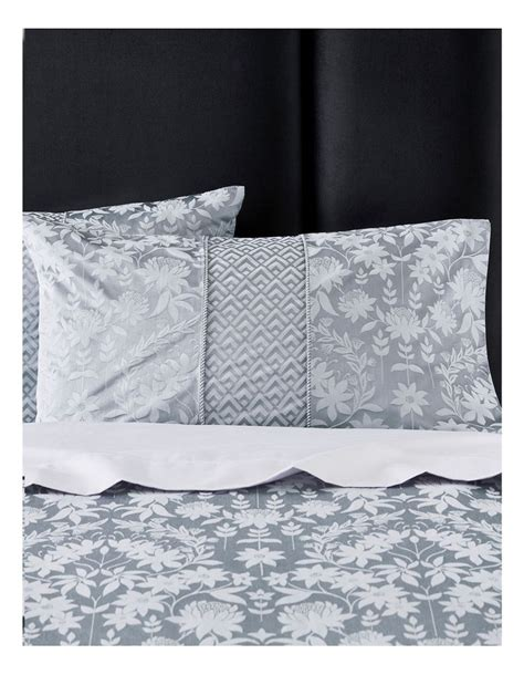 sheridan stedwell quilt cover  blue fog myer