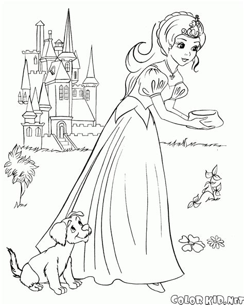 coloring page the prince met the princess