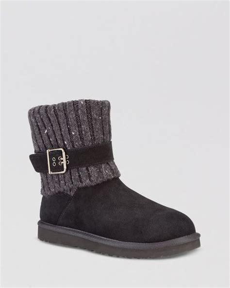 ugg booties cambridge sweater cuff in black lyst