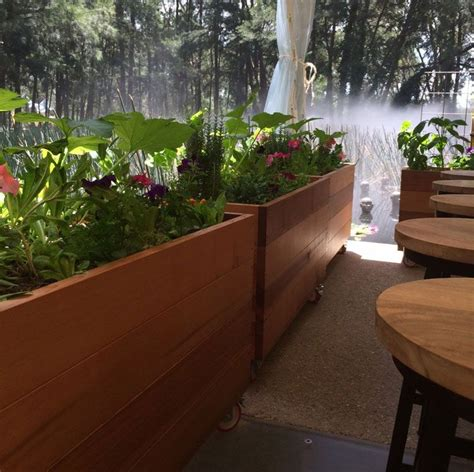 restaurant patio planters future environment cafe barriers bacchus ideas in 2019