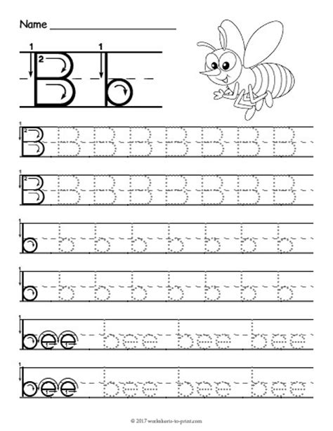 free printable preschool worksheets letter b tracing letter b worksheet