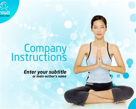 template powerpoint yoga yoga powerpoint template 36339