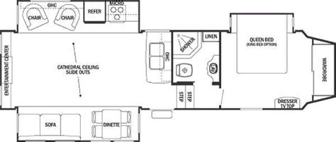 silverback 5th wheel floor plans 2012 forest river cedar creek silverback 29re fifth wheel
