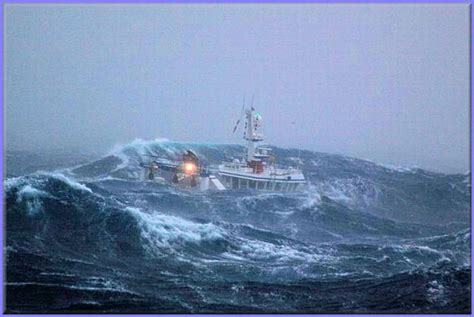 fishing ship in storm a fishing ship caught in the middle of a storm 10 pics