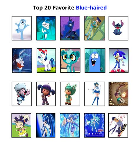 favorite blue blue haired cartoon characters www imgkid com the
