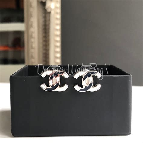 A Black And White Affair At Chanel Jewelry Of Diamonds by Chanel Earrings Stripes Black And White